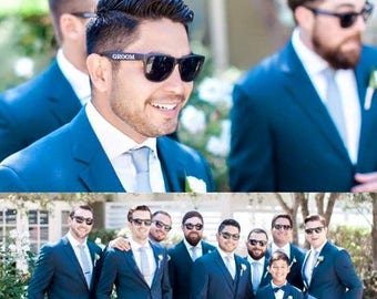10% OFF Wedding Party Sunglasses Set of 6, Groom Sunglasses, Best Man Sunglasses, Groomsmen Sunglasses, Groomsman Gift, Wedding Sunglasses