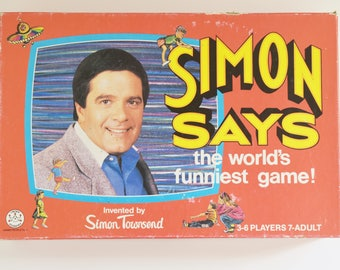 "Retro Board Game - ""Simon Says""- The World's Funniest Game - Invented By Simon Townsend -  In Original 1980's box"