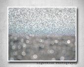 Bokeh photography Abstact wall art Neutral Tones photo Neutral decor Wave brake picture Abstract Bokeh summer decor