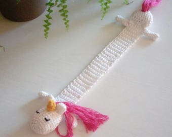 Unicorn Crochet Bookmark