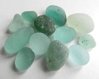 Aqua Bright Sea Glass Pieces for Jewellery