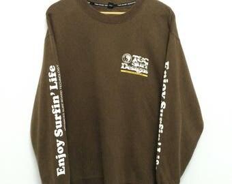 Vintage T&C Surf Sweatshirt / Big Logo / Surf / Surfing / Surfboard/ Hawaiian / Hang Ten /