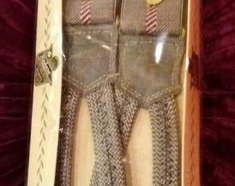 Vintage gentleman's braces by Sphere, made in England.