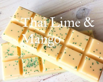 JM Thai Lime & Mango Soy Wax Melts Snap Bar/ Wax Tarts/Wax Melts