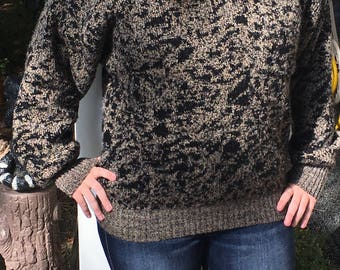 Vintage tan and black sweater