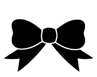 Bow decal Bow sticker Bow car decals Bow window decal Bow phone sticker Bow laptop f99 sticker Girl decal Girl sticker Decal for girl