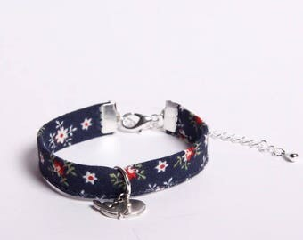 Liberty bracelet with silver whale charm
