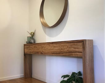 Recycled Reclaimed Hardwood Timber Hall Table