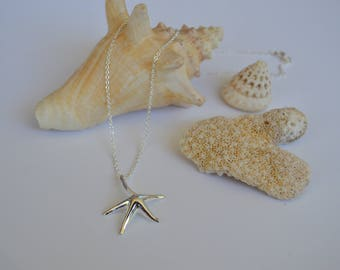 SUMMER SALE | Sterling Silver Starfish Necklace | Beach Jewelry