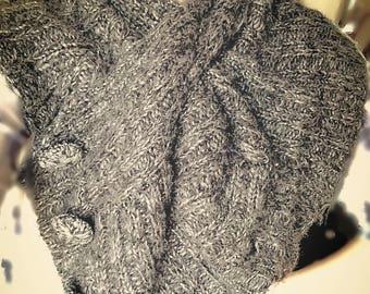 Wool Winter Gray Scarf