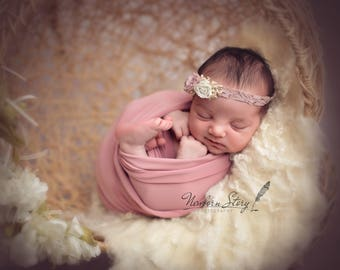 RTS, Stretch Jersey Wrap for Newborn Photography, Dusty Pink, Bright Yellow, Minty Blue,UK Seller