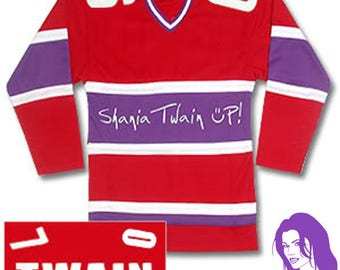 """Shania Twain Rare """"Up!"""" Tour Variant Hockey Jersey Size Large (Official Merchandise) + FREE GIFT!"""