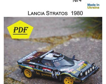 3d paper model etsy for Papercraft lancia