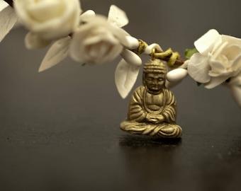 "White flower Crown model ""Buddha"""