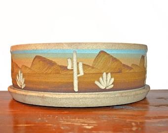 Vintage Southwestern Stoneware Planter