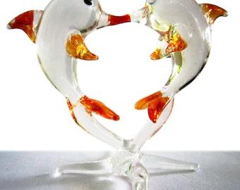Fabulous glass figurine - Dolphin