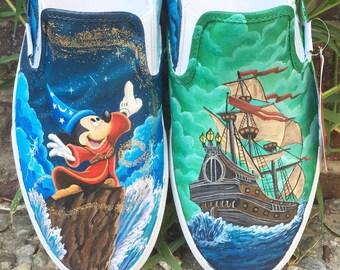 Disney Fantasia painted shoes (customizable)