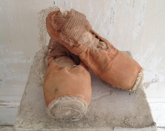 Antique Pair of Pink Ballet Shoes