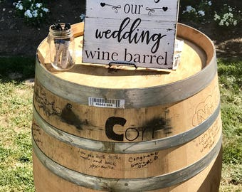 Sign our Wine Barrel