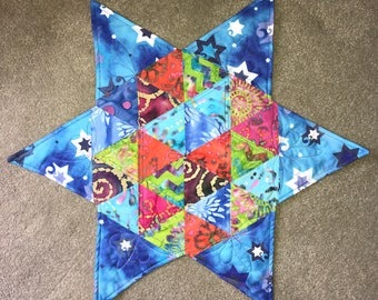 Reversible Star Challah Cover