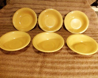 """Six Casualstone """"Coventry"""" Berry Bowls 70's Homer Laughlin"""