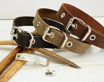 Dog Collar, Leather Dog Collar, Dog Collar Leather, Personalized Dog Collar, Dog Collar Personalized, Small Dog Collar, Pet Gift, Dog Gift