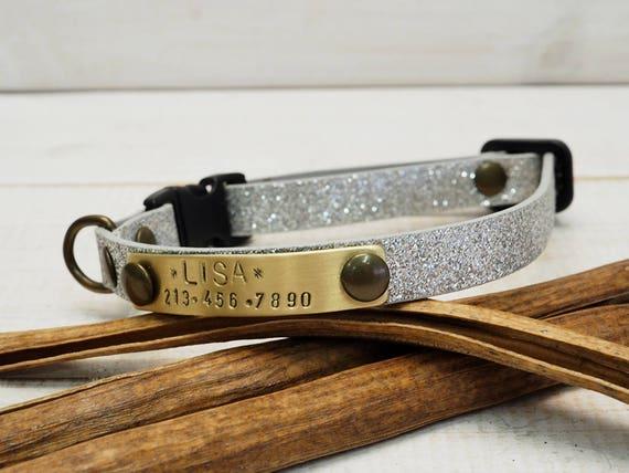 cat collar breakaway collar dog collar personalized collar. Black Bedroom Furniture Sets. Home Design Ideas