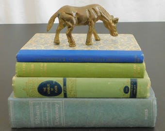 Vintage Solid Brass Horse Figurine, Grazing Equine, Desk, Office, Home, Library, Collection, Paperweight, Animal, Gift for Horse Lover