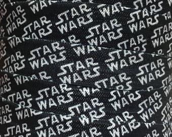 5/8 Star Wars Elastic, Star Wars Fold Over Elastic, Star Wars FOE, Elastic for Hair Ties