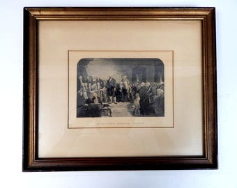 Washington's Inaugural Address Early 20th Century Framed Engraving