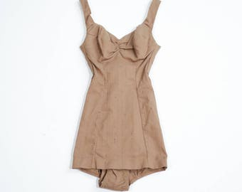 VINTAGE - 50s cotton swimsuit