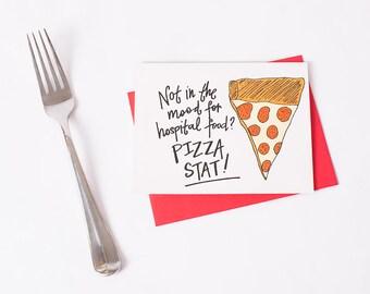 Greeting Card: Hospital Food