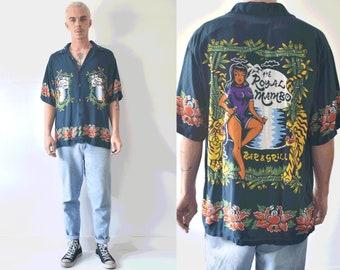 Extremely Rare Mambo Loud Button Up Shirt/ The Royal Mambo Bar And Grill Medium Shirt