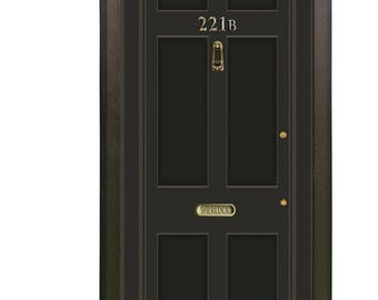 Door Wall Personalized Sticker *Sherlock Holmes Baker Street 221B*/Self-Adhesive  sc 1 st  Etsy & 221b door   Etsy pezcame.com