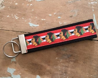 Chicago Blackhawks fob keychain wristlet