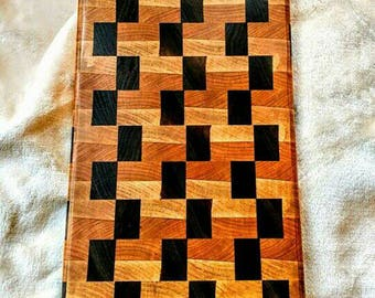 Handmade maple, cherry, and walnut endgrain cutting board