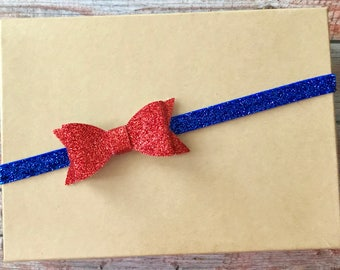 Fourth of July Headband, 4th of July Headband, Baby Headband, Patriotic Headband, Newborn Headband, Infant Headband, Baby Girl Headband