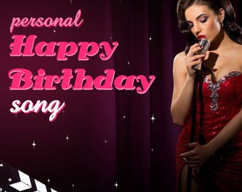 Personal Happy Birthday Video Greetings, Happy Birthday Video Gift, Happy Birthday Song, Customized gift, Lana Del Ray Burning Desire style