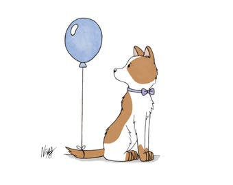 Birthday Pup - Illustration Print Postcard
