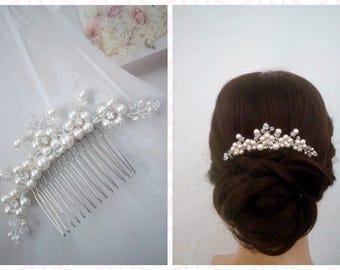 Wedding Hair Comb Bridal Hair Vine, Bridal Hair Comb Silver Bridal Hairpiece Bridal Hair Accessories Crystal Hair Comb Bridal Hair Piece LEA