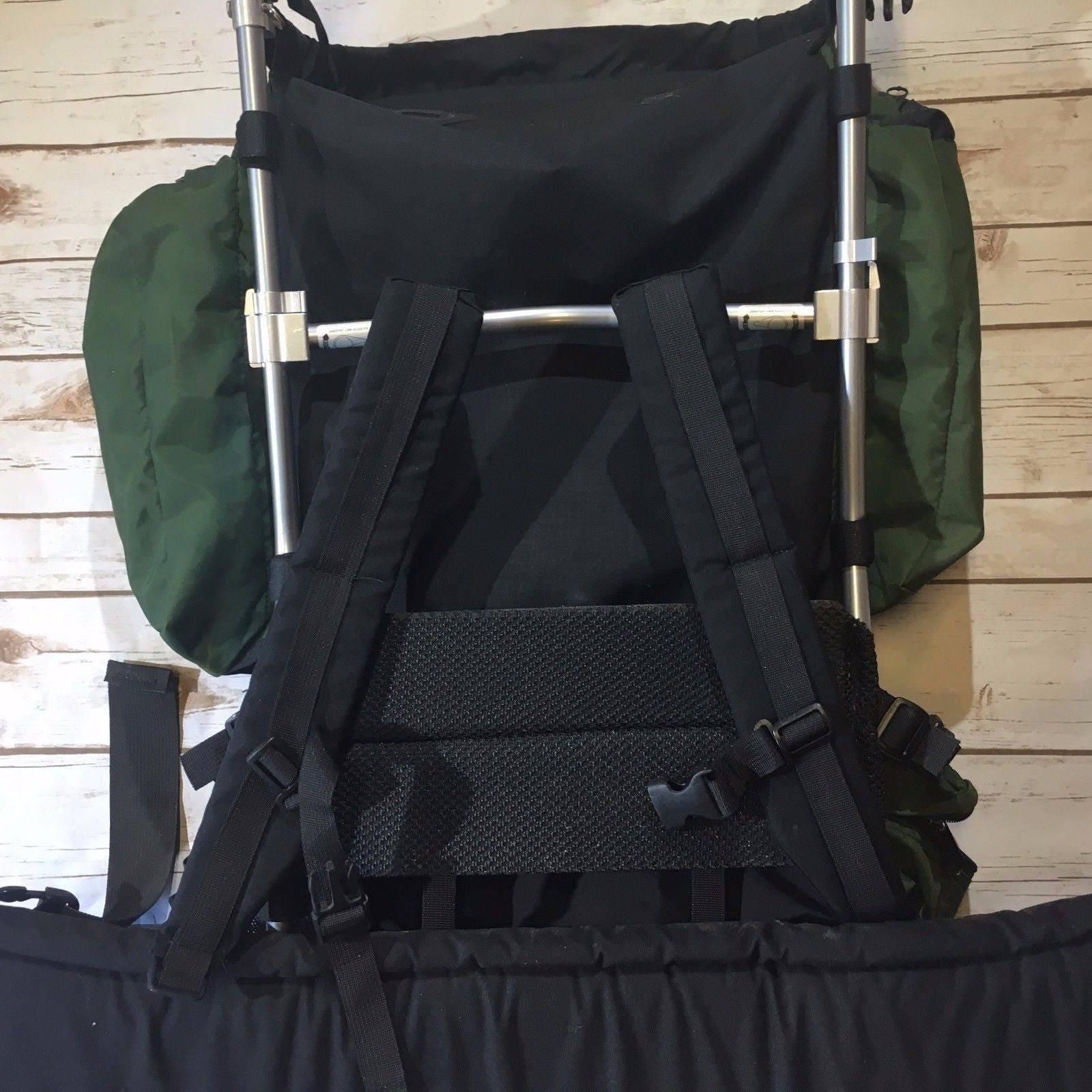 Vintage Jansport Backpack, Green Black Jansport External Metal Frame ...