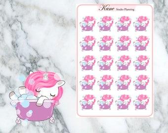 Bath Unicorn Planner Stickers