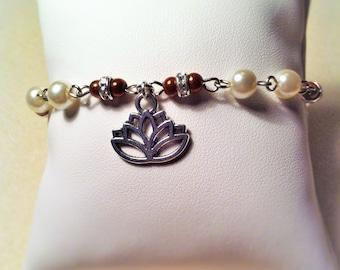 "Bracelet ""Lotus coffee"""