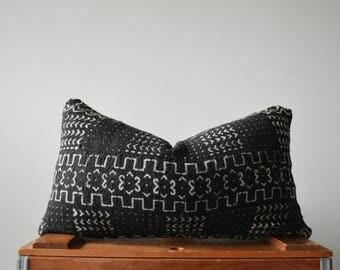 THE SALAMANCA 18x10 Authentic African Mud Cloth Lumbar Pillow Cover