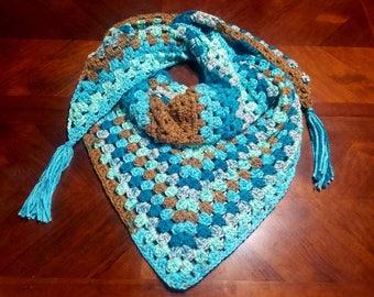 Triangle Shawl, Crochet Shawl, Triangle Scarf, Crochet Scarf, Prayer Shawl, Winter Shawl, Crochet Wrap, Shawl Wrap, Crocheted Shawl, Shawl