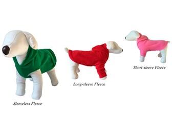 Fleece dog shirt Custom made Sweater hoodie Dachshund sweatshirt pajamas dog Fleece warm puppy in sizes  XS  Small  Medium Large XL