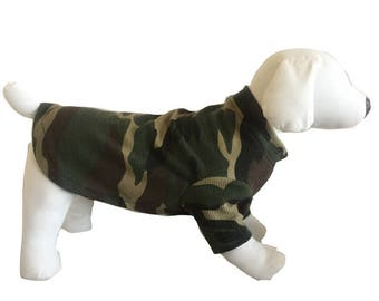 Fleece dog shirt Camouflage Sweater Dachshund sweatshirt pajamas dog Fleece warm puppy Small  Medium Large