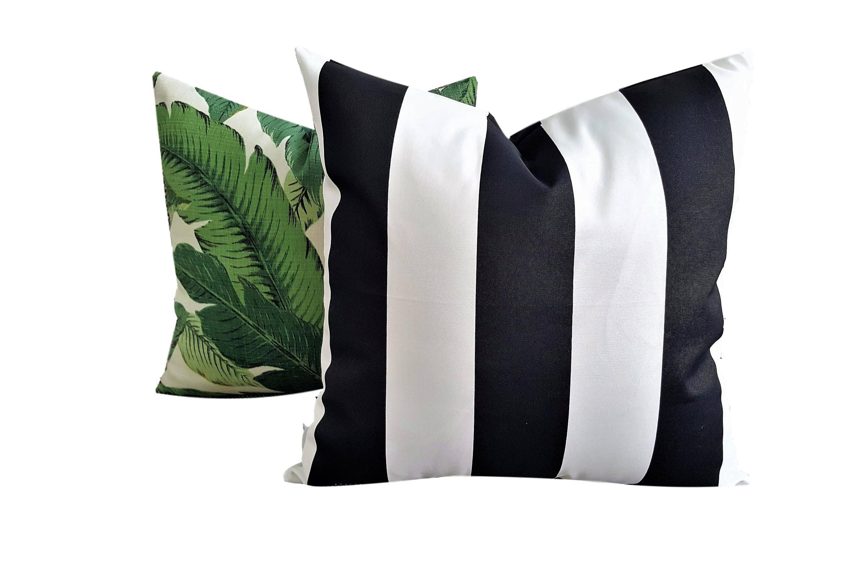 Black White Stripe Cushion Cover Indoor and Outdoor Cushion