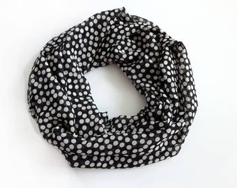 Black Girlfriend Gift, Gift For Mom, Infinity Scarf, Fashion Boho Scarf Sister Gift, Polka Dot Scarf, Gift For Her, Christmas Gift For Women