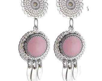 Earring clip Arizona Rose (made in France)